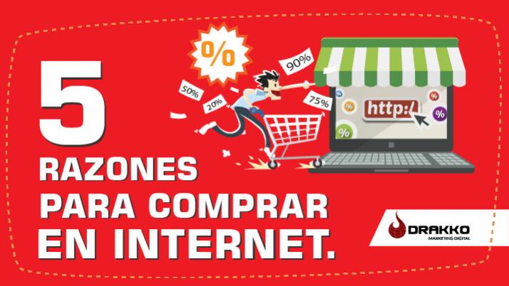 5 razones para comprar por internet